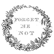 Forget Me Not vignette